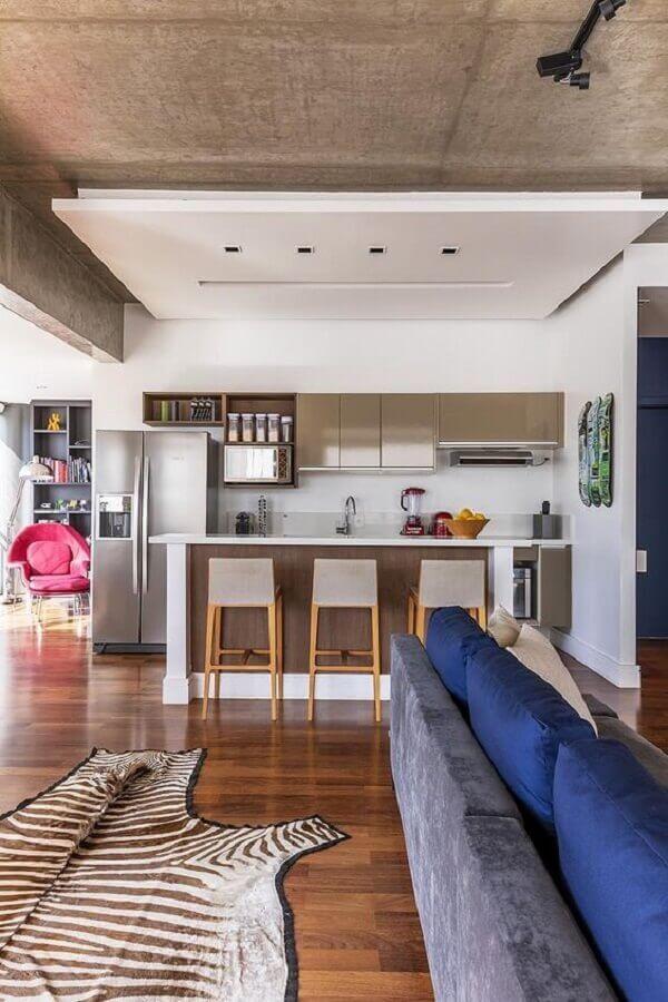 tapete zebrado para decoração de casa conceito aberto Foto Casa de Valentina