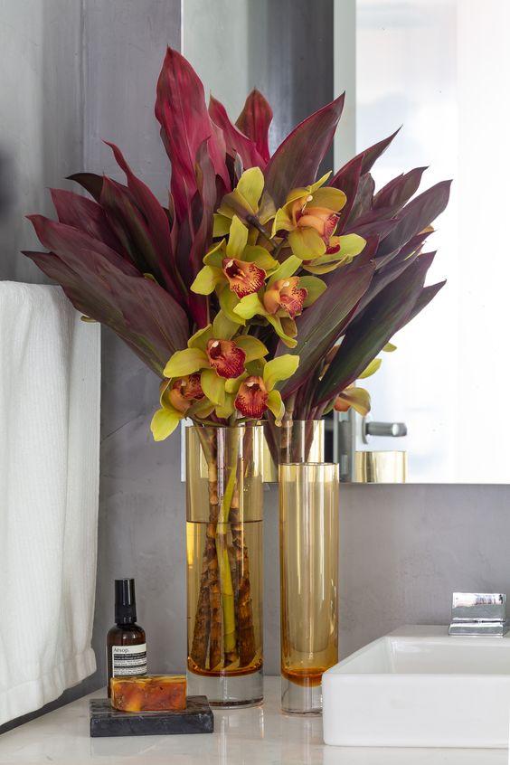 Vaso de orquídea para decoração de casa