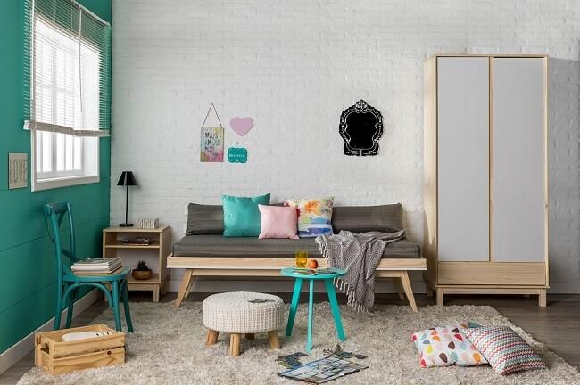 Tendências para quartos em 2021: tons de verde e azul transmitem serenidade