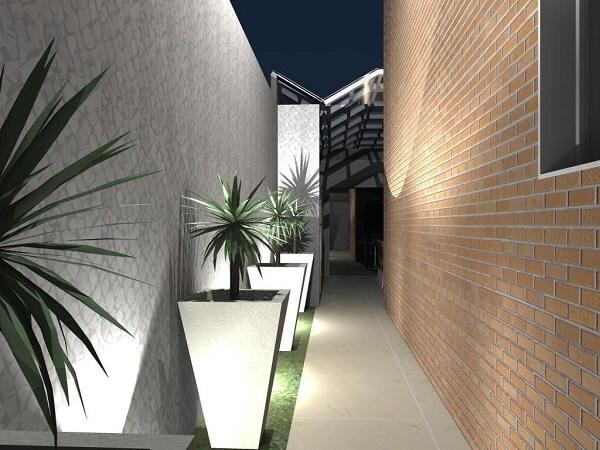 A luminária para corredor externo embutir chão é uma alternativa para o jardim