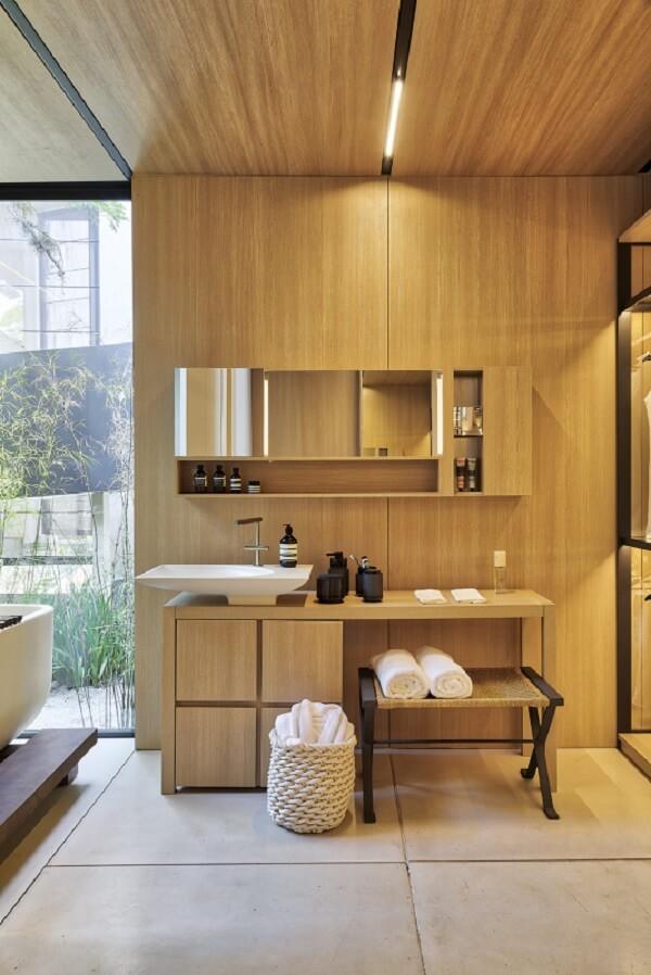 Cuba de apoio para banheiro com design diferenciado