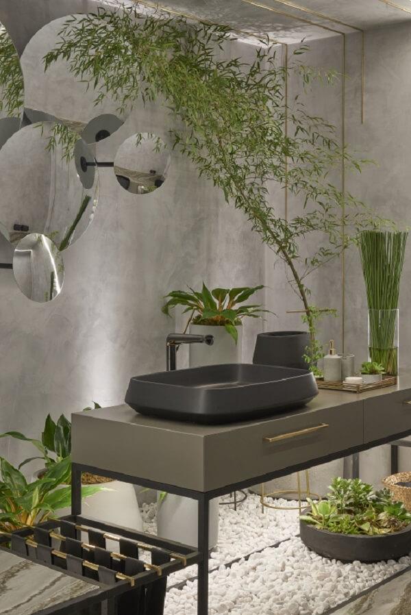 Cuba de apoio para banheiro deca com design sofisticado