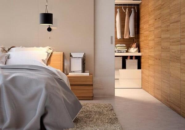 Existem diferentes modelos de porta de correr para quarto com closet