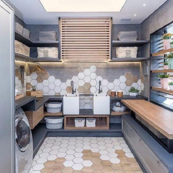 Lavanderia com estilo, sim nós temos!