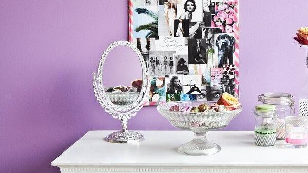 Modelo de espelho de mesa vintage