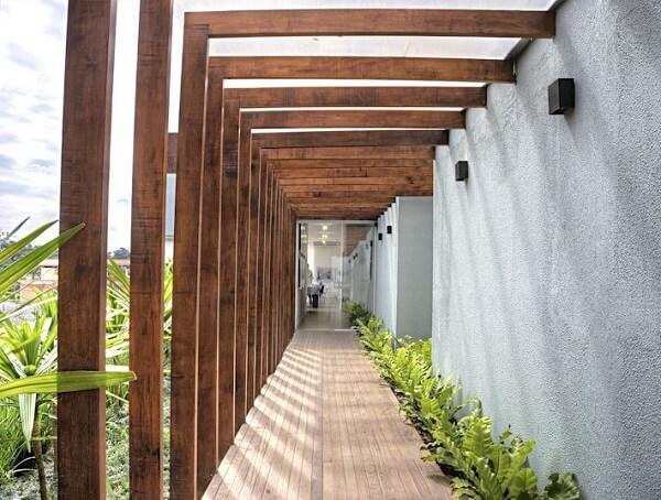 Modelo de luminária de parede para corredor externo