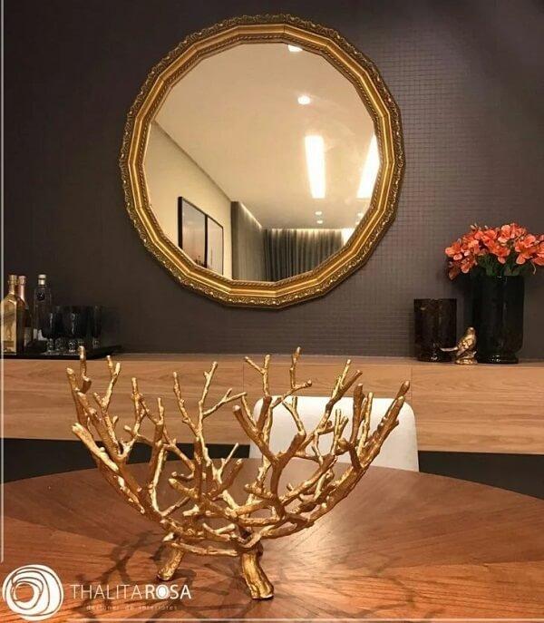 O espelho redondo vintage pode transformar totalmente um ambiente