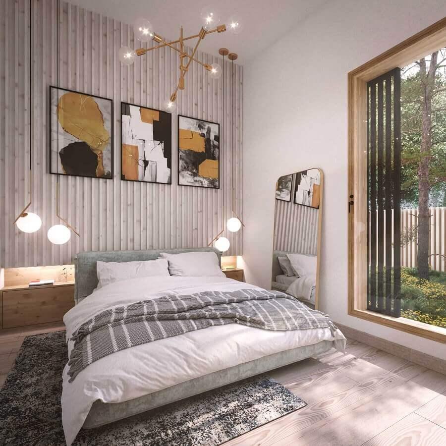 Porta de vidro para decoração de quarto moderno - Foto habitissimo