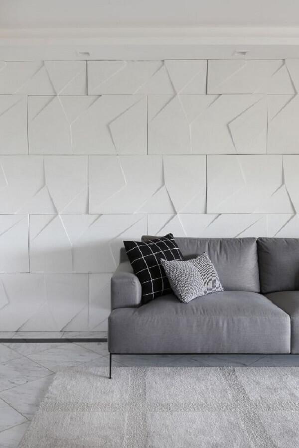 Revestimento de parede 3D clean para sala de estar