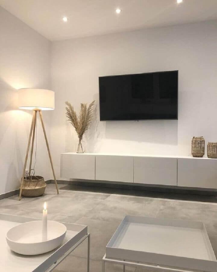 abajur de chão para decoração de sala de tv minimalista Foto Decoholic