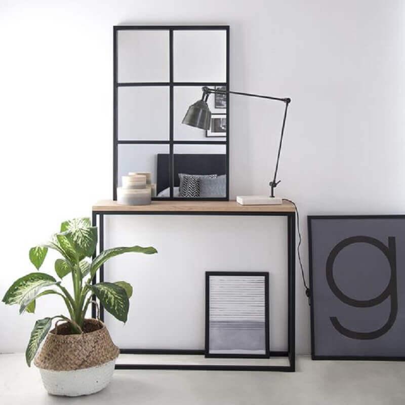 aparador para sala pequena minimalista Foto Kenay Home