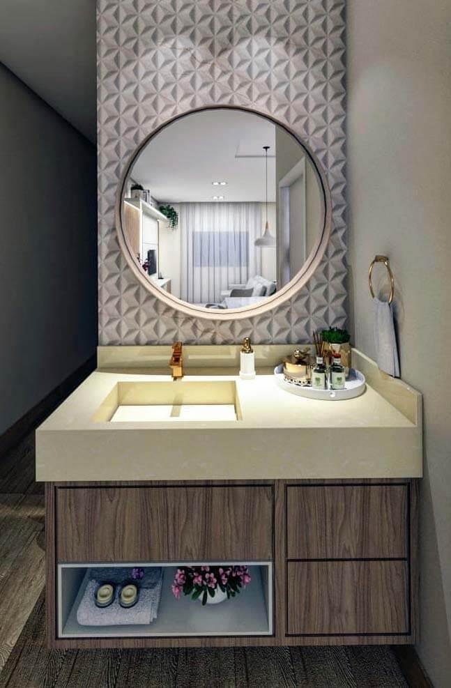 Banheiro com cuba esculpida moderna