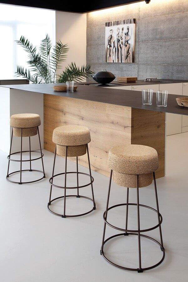 banquetas modernas para área gourmet sofisticada Foto Lúdica Arquitetura
