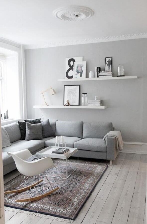 cadeira de balanço para decoração minimalista para sala de estar cinza Foto Bloglovin'