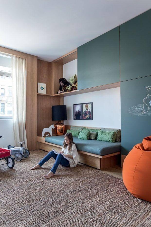 Cama de madeira para quarto infantil
