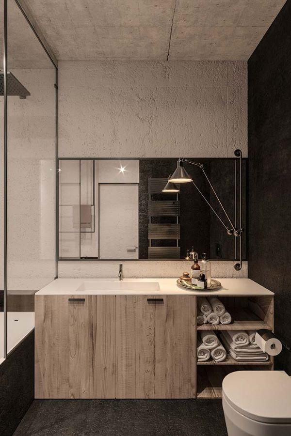 Cuba esculpida com armário de madeira