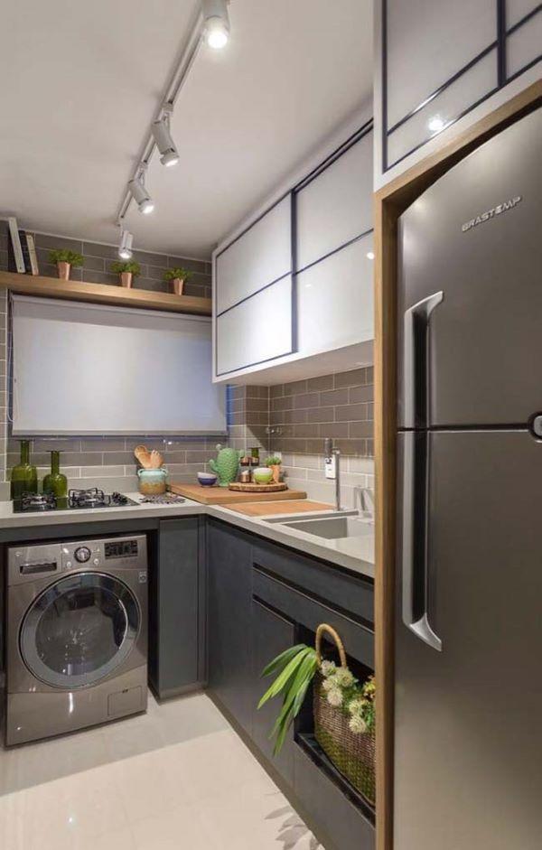 Cozinha com cuba esculpida