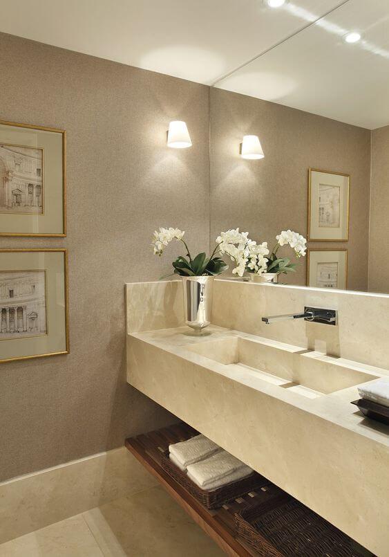 Cuba esculpida para banheiro luxuoso