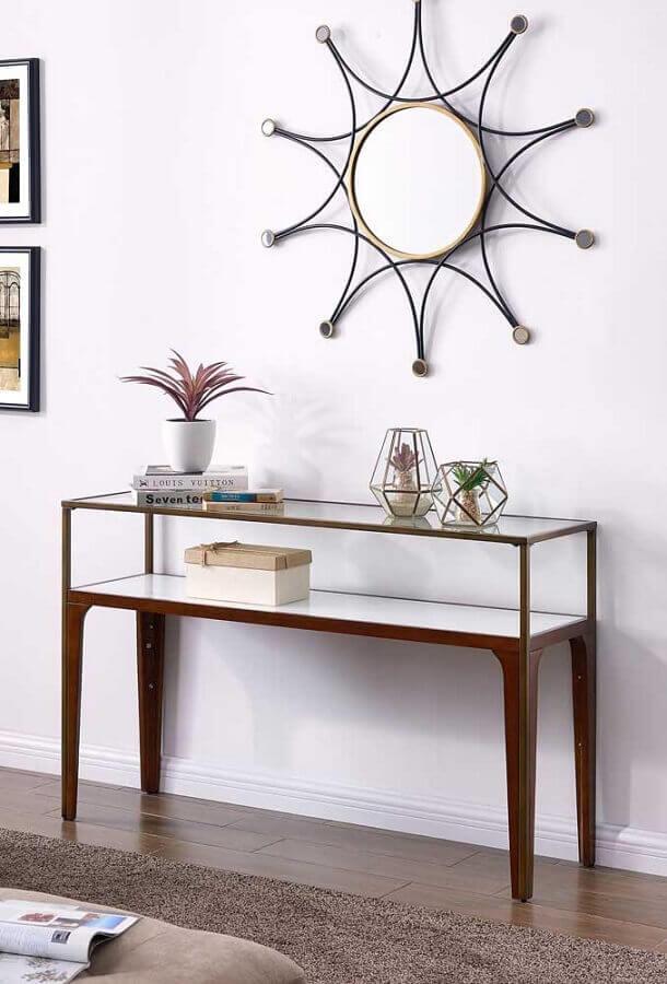 decoração clean com aparador pequeno para corredor Foto Pinterest