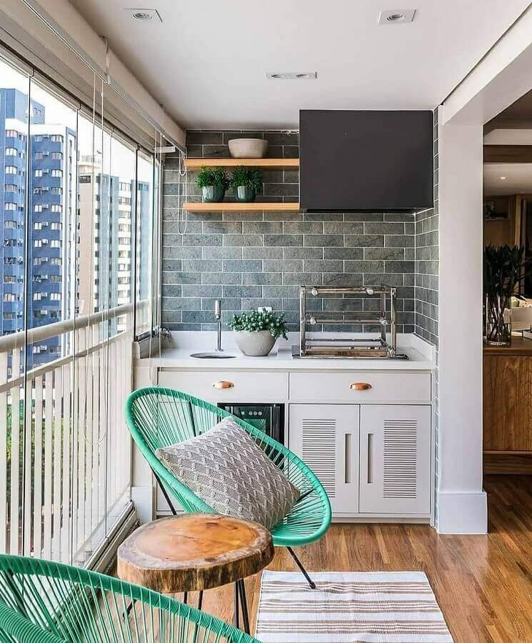 decoração com cadeiras para varanda de apartamento Foto Histórias de Casa