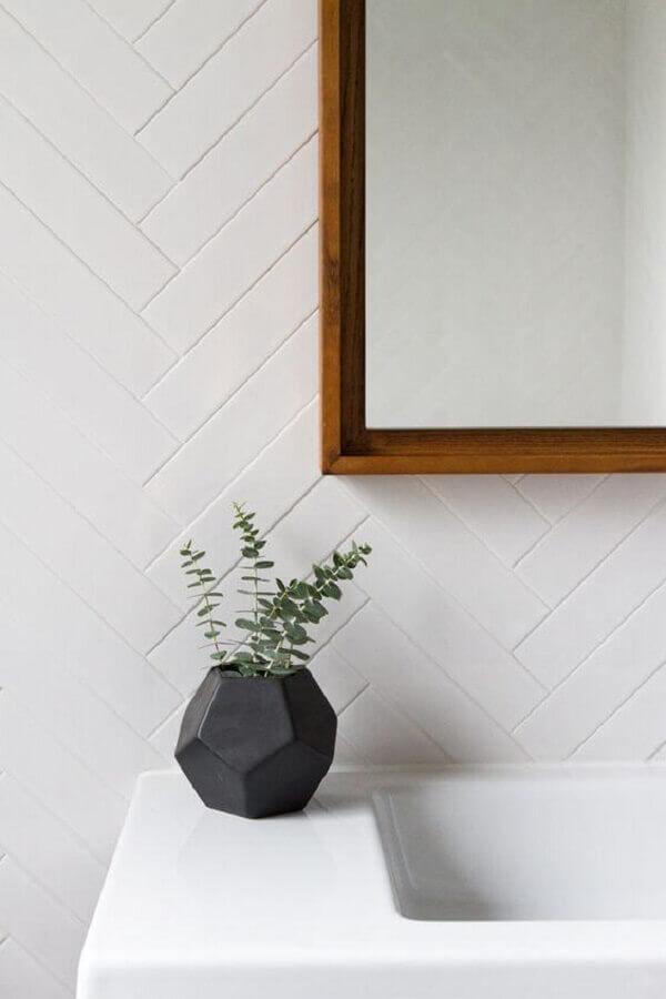 decoração de banheiro com metro white Foto DecorHolic