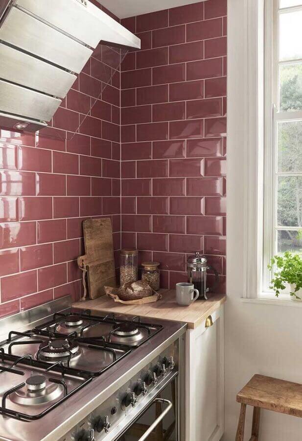decoração de cozinha com metro white colorido Foto Pinterest