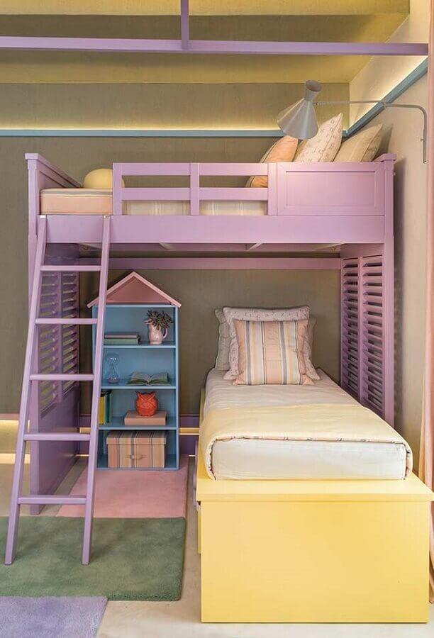decoração de quarto para criança colorido em tons pastéis Foto Quartos Etc