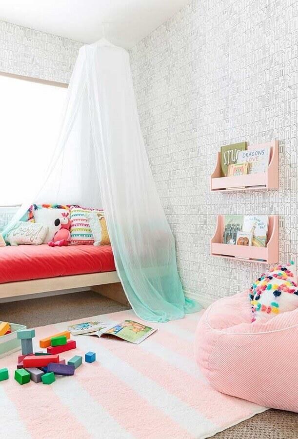 decoração de quarto para criança com papel de parede tijolinho Foto Pinterest