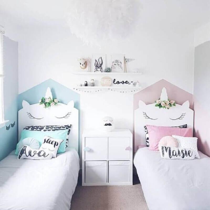 decoração de quarto para criança com tema unicórnio Foto Pinterest
