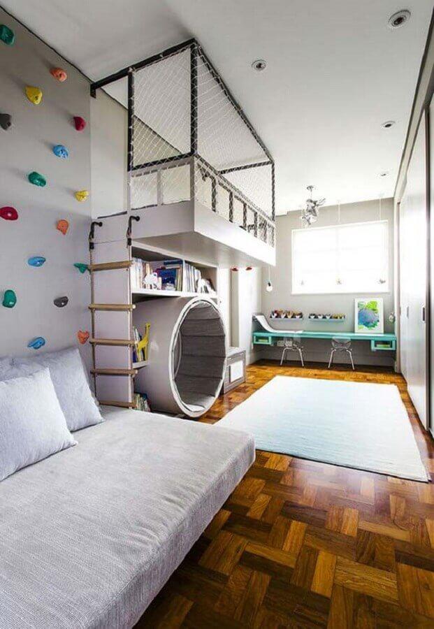 decoração de quarto para criança moderno com móveis planejados Foto Pinterest
