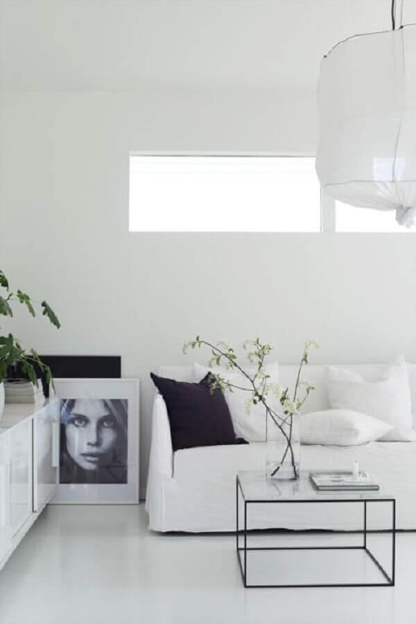 decoração de sala de estar minimalista Foto Bloglovin'
