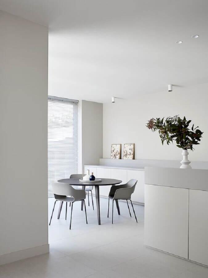 decoração de sala de jantar minimalista Foto Futurist Architecture