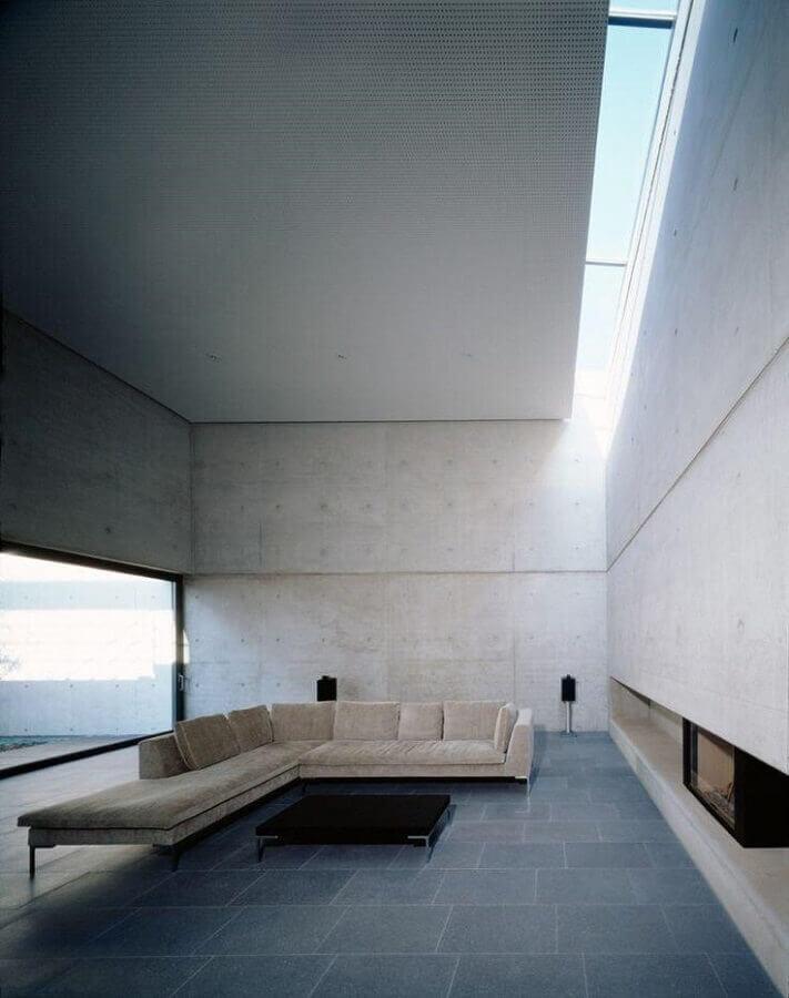 decoração minimalista para sala de estar ampla Foto Futurist Architecture
