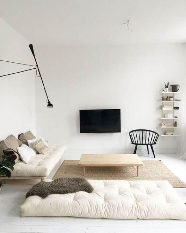 decoração para sala minimalista simples Foto Pinterest