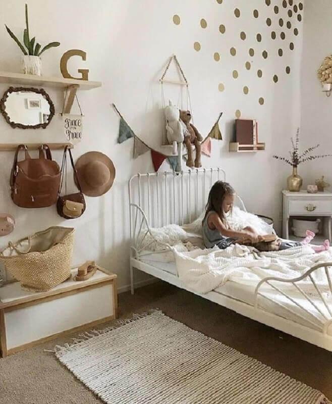 decoração simples com passadeira para quarto infantil Foto Pinterest