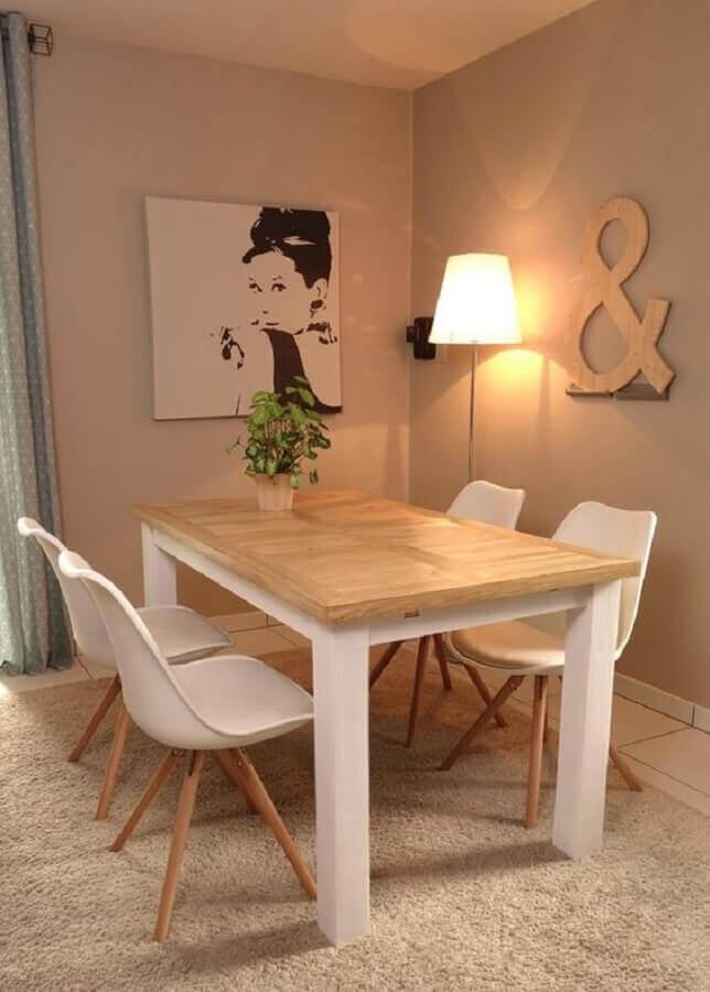 decoração simples para sala de jantar minimalista Foto Pinterest