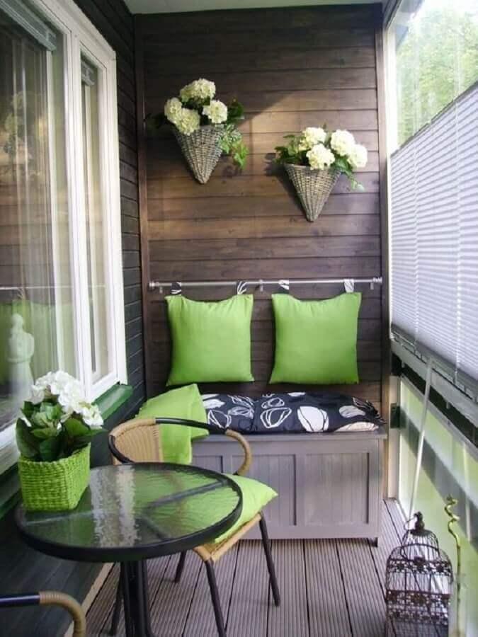 decoração simples para varanda pequena de apartamento Foto Pinterest