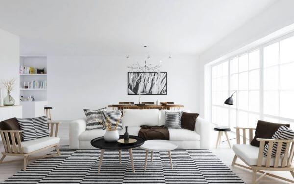 Sala com design escandinavo
