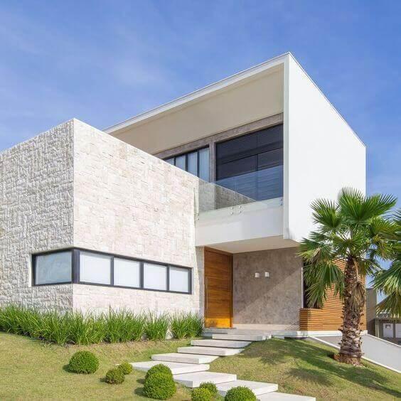 Fachadas com cores neutras e modernas
