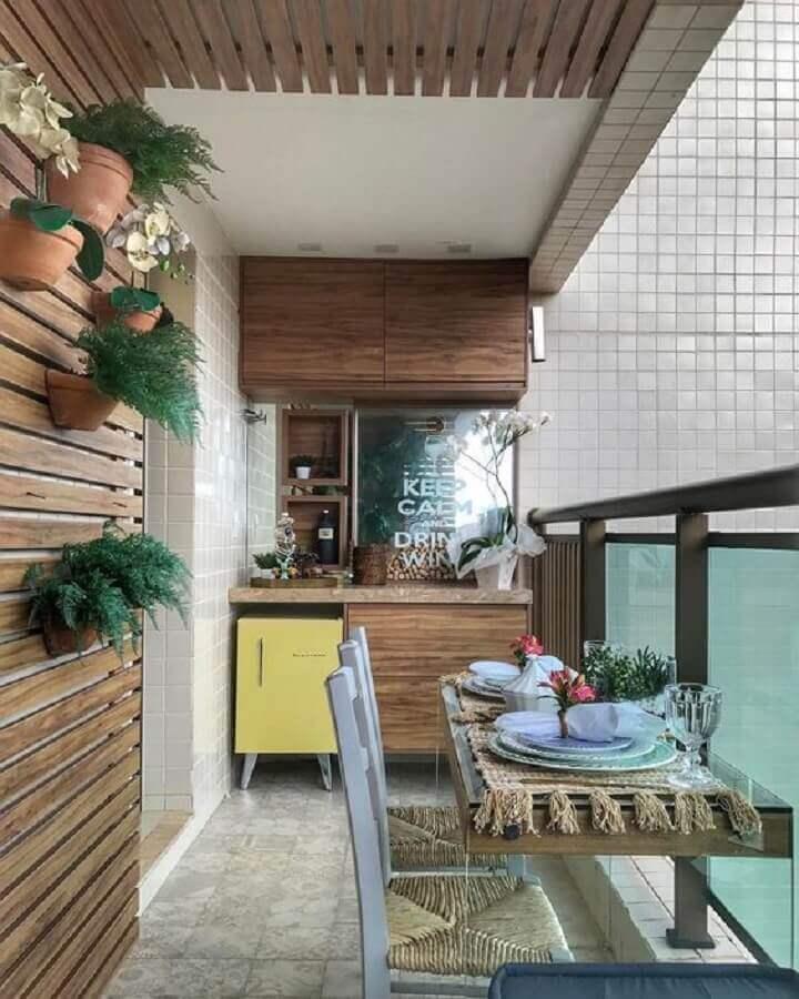 ideias para varanda pequena e simples  Foto Dicas de Mulher