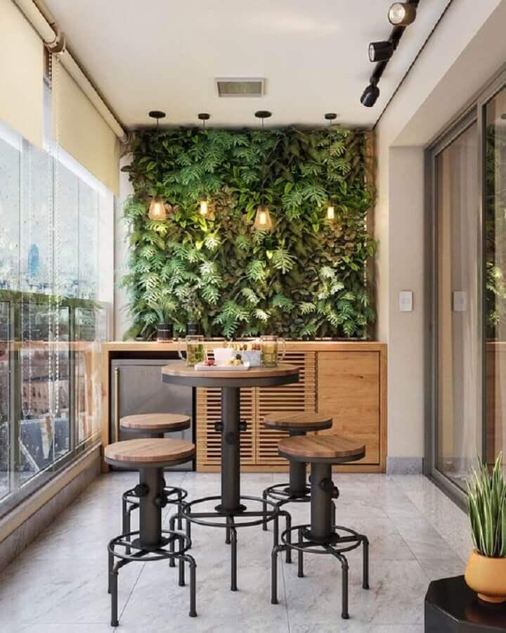 jardim vertical para varanda de apartamento decorada Foto Home Fashion Trend