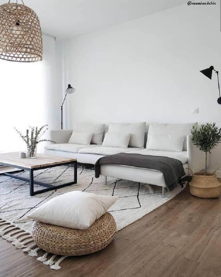 luminária pendente rústica para decoração de sala minimalista simples Foto Etsy