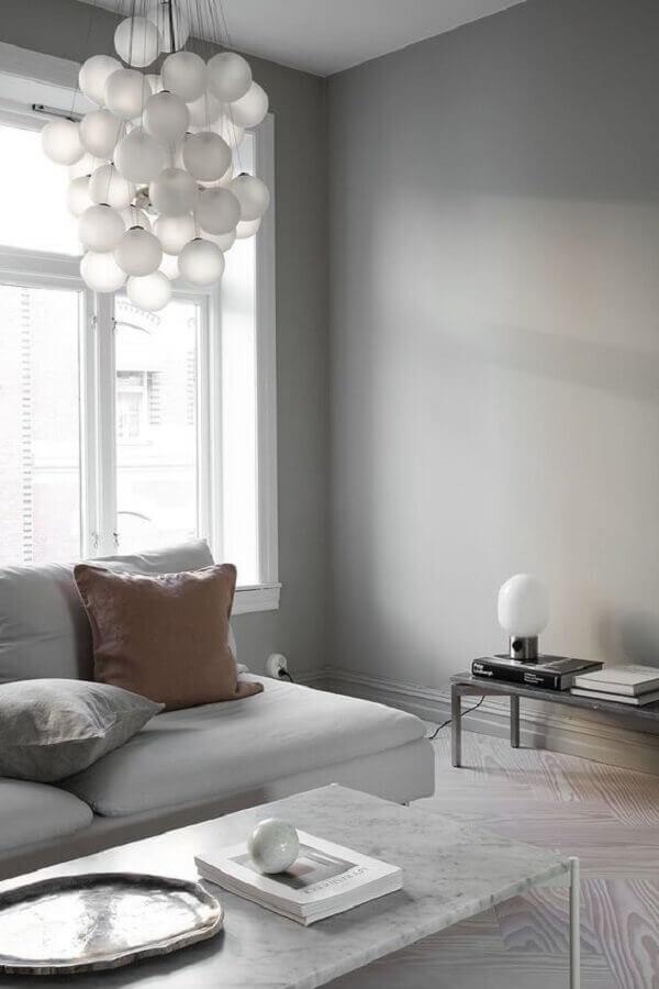 lustre moderno para decoração minimalista para sala de estar Foto Pinterest