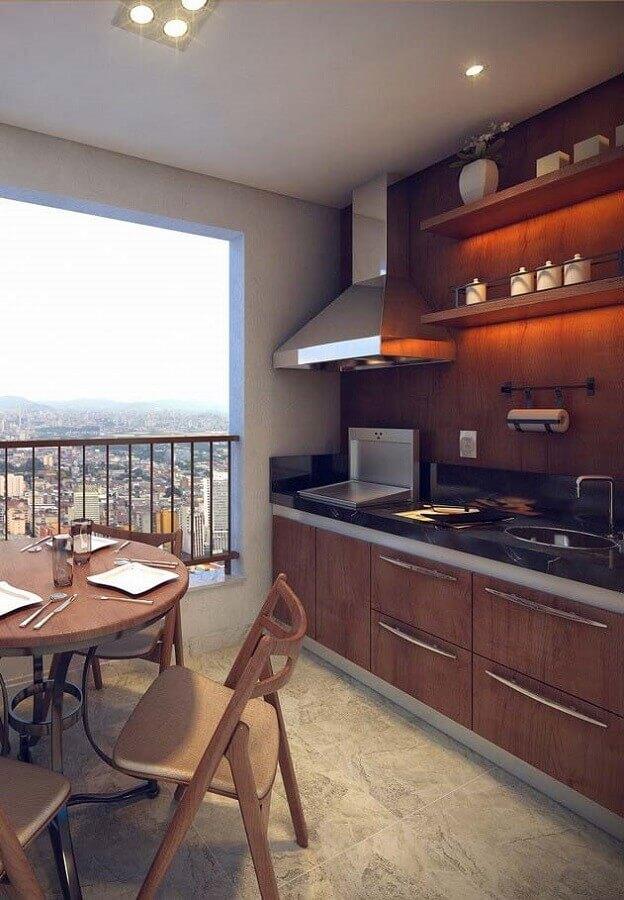 móveis para varanda de apartamento gourmet Foto Pinterest