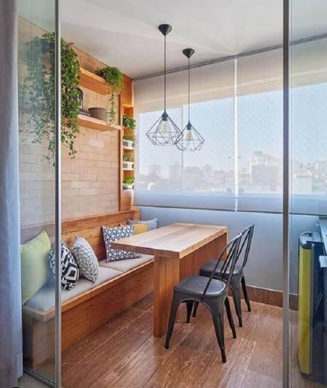 móveis para varanda de apartamento planejado  Foto Liven Casa