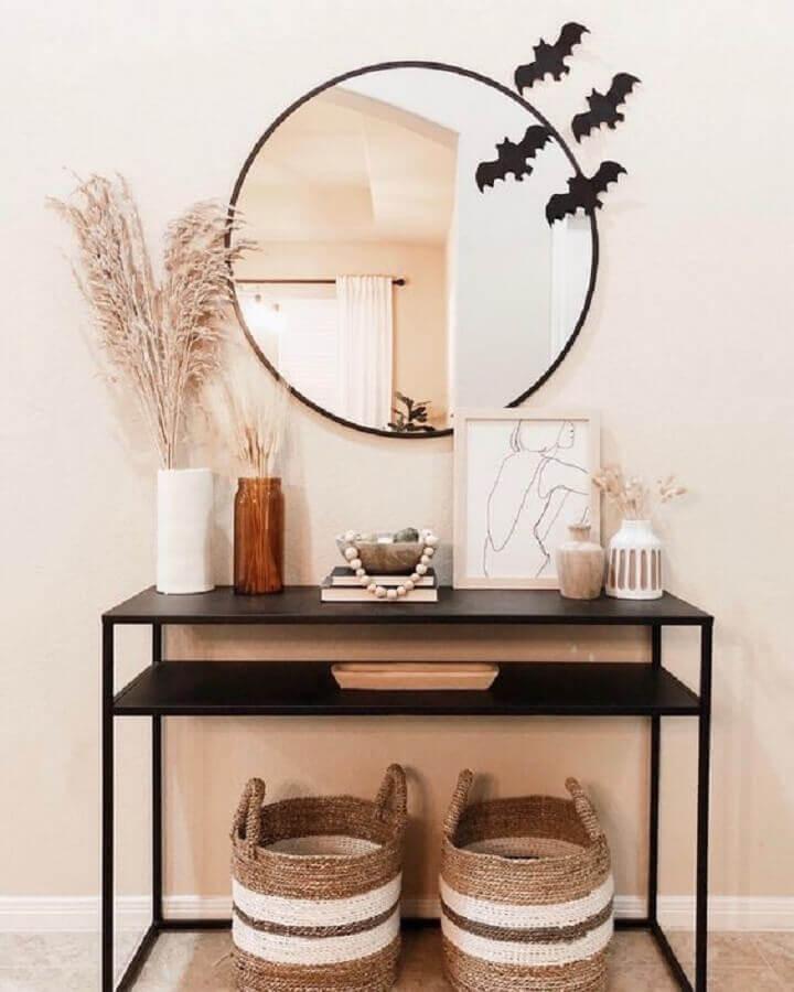modelo de aparador pequeno minimalista preto  Foto Target