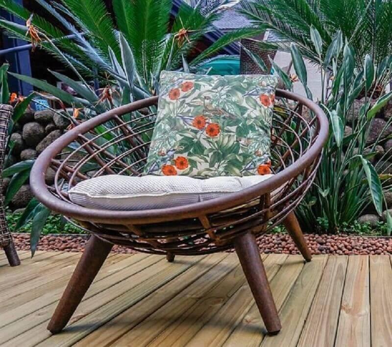 modelo de poltrona decorativa para varanda Foto Villa Rattan