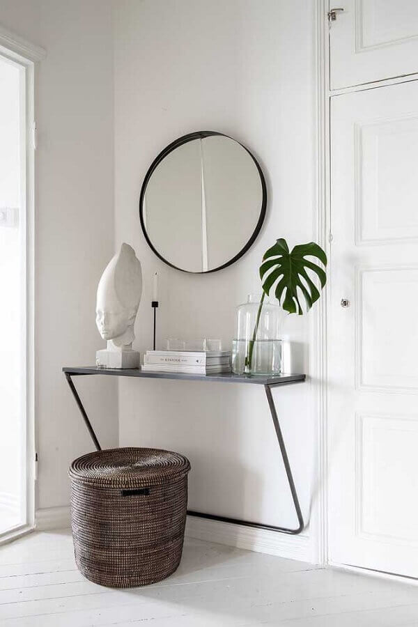 modelo diferente de aparador pequeno para hall de entrada minimalista  Foto Archilovers