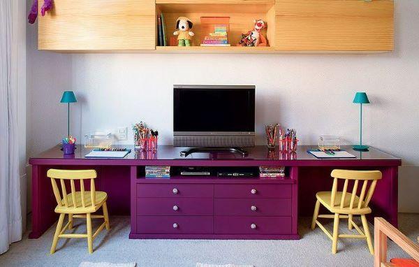 Móveis para quarto roxo moderno