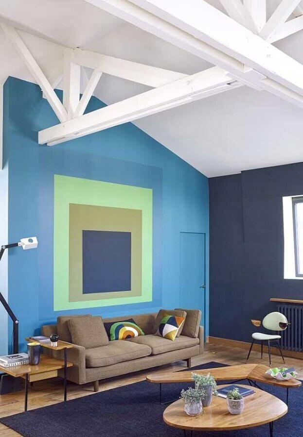 paleta de cores azul para decoração de sala de estar Foto Pinterest